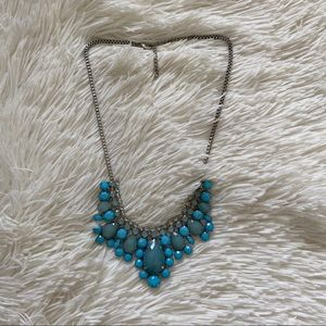 FREE Blue and Silver Statement Necklace